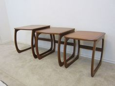Austin: Vintage Danish Modern Teak Nesting Table Set  - http://furnishlyst.com/listings/973496