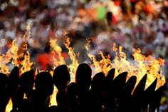The Olympic Cauldron burns during the Closing Ceremony of the London 2012 Olympic Games on Sunday, Aug 12th