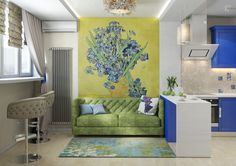 Our Van Gogh Digital Wallcoverings (30545) by our indirect client from Samara (Russia) - BN Wallcoverings