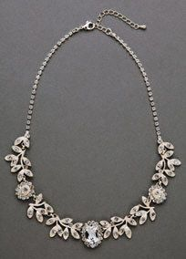 Complete your wedding day look with this classic beauty!  A vine design and large oval crystals make this necklace a timeless piece, you will have to treasure for years and years to come!  Fabric content: crystal and�metal.  Matches perfectly with earrings style 9050E and bracelet style 9050B.  Imported.