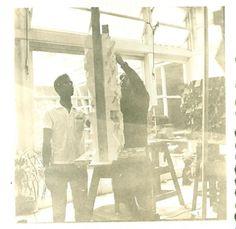 Ateliê em Paris, 1965. #studio #paris #sergiocamargo #art #abstraction #sculpture #concrete #geometry