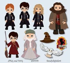 Harry Potter Personal and Small Commercial by SandyDigitalArt Baby Harry Potter, Harry Potter World, Pixel Art Harry Potter, Natal Do Harry Potter, Harry Potter Thema, Arte Do Harry Potter, Theme Harry Potter, Harry Potter Christmas, Jarry Potter