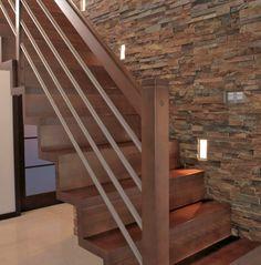 schody zabiegowe drewniane - Szukaj w Google Balcony Railing Design, Stair Railing, Stairs, Stair Storage, Livingston, Google, Industrial, Desk, Space