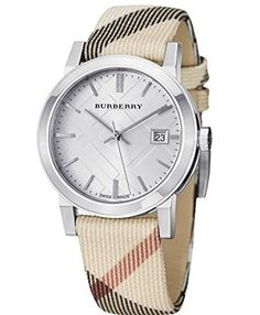 Womens Watches BURBERRY BURBERRY HERITAGE BU9022  Womens Watches BURBERRY BURBERRY HERITAGE BU9022 Woman's watch. Swiss quars movement. Stainless steel case.Leather strap recovered of fabric. Silver dial. Diameter 38mm. Water resistant 50m. Saphire crystal. 2 years of warranty.  http://www.bestratewatches.com/womens-watches-burberry-burberry-heritage-bu9022/