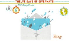 Check out Day SIX of the 12 days of crafty holiday giveaways from Spoonflower: a chance to win a $100 Etsy gift Card!