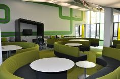 I love the colors and layout of this space - what a great place to study! #libdesignchat