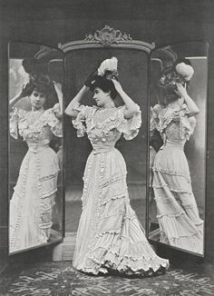 Mlle Ellen Therval. Mirroir Charles Brot, 1905.