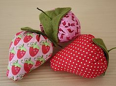 How to sew strawberries