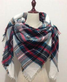 Za winter acrylic cashmere tartan plaid scarf brand blanket shawl designer pashmina wrap stole for Lady Women Girl Tartan Plaid Scarf, Plaid Blanket Scarf, Pashmina Wrap, Cute Scarfs, Diy Fashion, Fashion Tips, Autumn Winter Fashion, Fall Fashion, Womens Scarves