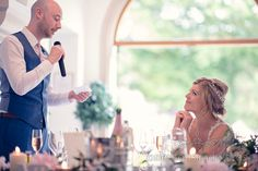 Groom Talks About Bride During Speech At Italian Villa Wedding Photographs Photography By One Thousand