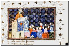 The work of the Virgil Master (fl. in Paris, c. 1390-1420) was quite popular among the members of the court of John, duke of Berry, who acquired – mainly by gift – more than a half dozen manuscripts illuminated by this artist. The duke's treasurer, Jacques Courau, commissioned several books from the Virgil Master, including a copy of Virgil's Bucolics and Aeneid, after whom the artist is named (Florence, Biblioteca Laurenziana, Med. Pal. 69).