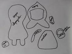 Resultado de imagem para moldes para chapeuzinhos coloridos
