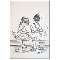 Young ballerina greeting cards (images © Steve O'Connell Fine Arts).