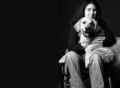 Samantha Laux and her service dog, Dylan. We hope her story will inspire you to lift others or overcome a current challenge you might be experiencing.