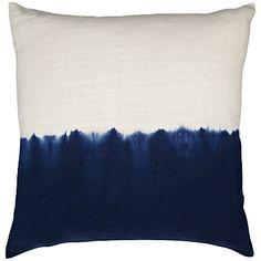 John Lewis Dip Dye Halves Cushion, Navy