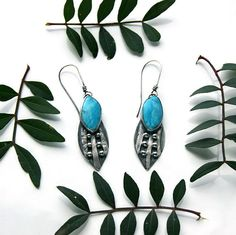 Of the Sky Turquoise Sterling Silver Earrings