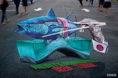 street painting gallery - Street Painting and Anamorphic Art by Chalk Artist Cuboliquido 3d Street Painting, 3d Street Art, Street Artists, Chalk Artist, 3d Chalk Art, Art 3d, Chalk Festival, Art Festival, Coffee Artwork
