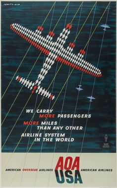 Vintage Travel Poster by LEWITT-HIM LEWITT / AOA - USA