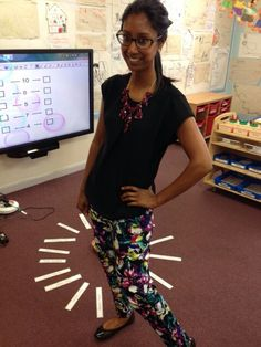Work wear for a primary school teacher patterned trousers