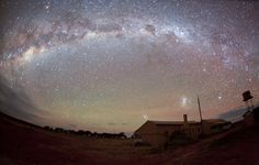 """Taken in Western Queensland Australia on a property (sheep and cattle station) named """"Salt Bush"""". The buildings are the original and still used shearers accomodation and kitchen. While there was no moon and the longish exposure makes things appear slightly brighter than they were to the naked eye it was still possible to find my way around by star light (after about 20 mins of my eyes adjusting). The photo really does not do it justice, the stars were really something special...."""