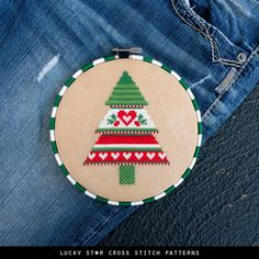 Christmas Tree Counted Cross Stitch Pattern PDF – Christmas Gifts Crafts – Xmas Holiday Patterns – S Cross Stitch Tree, Simple Cross Stitch, Counted Cross Stitch Patterns, Cross Stitch Embroidery, Embroidery Patterns, Easy Cross, Hand Embroidery, Christmas Crafts For Gifts, Craft Gifts