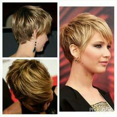 JLaw Haircut side and backview