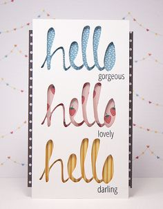 Yainea for Avery Elle using Simply Said: Hello stamps and dies