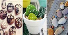 Lek loss med färg och sten – 19 roliga pysselidéer | Land Rock Crafts, Diy And Crafts, Rock Design, Pebble Art, Rock Art, Painted Rocks, Mason Jars, Projects To Try, Tableware