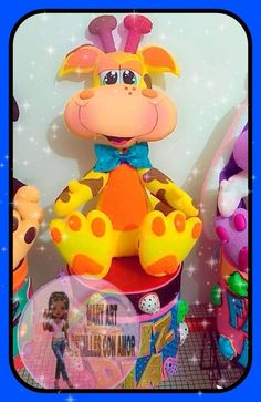 Party Centerpieces, Tweety, Princess Peach, Diy And Crafts, Painting, Animals, Character, Beauty, Feltro