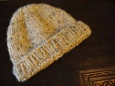 Quick Hat to Knit, chunky yarn.