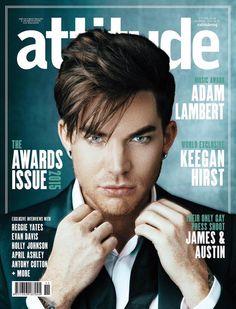 Adam Lambert on the cover of Attitude Magazine - Nov 2015 issue
