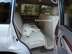 Deluxe Quilted and Padded Car Back Seat Cover for Pets - Covers bench seat, the back floor and up the back of the front seats.