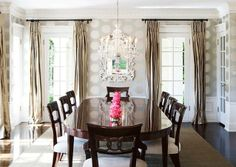 Great DR my LA designer Abby Wolf-Weiss... especially love the silvery wallpaper...