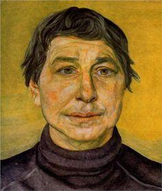 A Woman Painter - Lucian Freud (British: 1922- 2011)