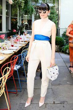 Leaf Greener at M2Malletier's New York Fashion Week garden lunch.