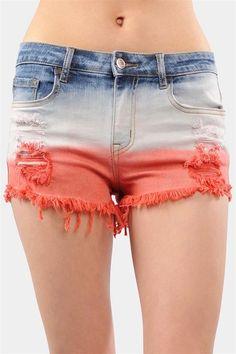 Dip Dyed Shorts - cute!