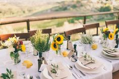 "How to Throw a Tuscan-Style Wedding on a ""Can't Fly to Italy"" Budget via Brit + Co"