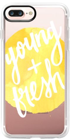 Casetify Protective iPhone 7 Plus Case and iPhone 7 Cases. Other Yellow iPhone Covers - Young + Fresh in Yellow Watercolor byFrost Design Co. | Casetify