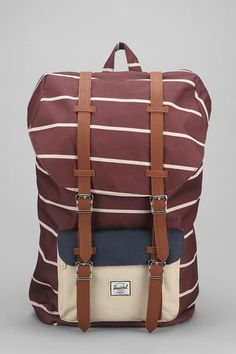 i kinda HAVE to have this!!!   Hershel Supply Co. Little America Rust Stripe Backpack