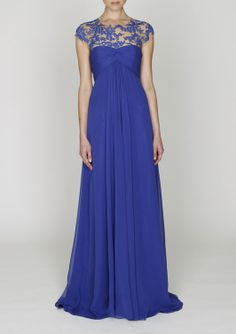 monique lhuillier blue dress