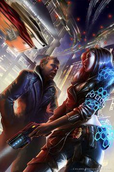 Cyberpunk - Henry Biggston Bookcover by Celarx on DeviantArt
