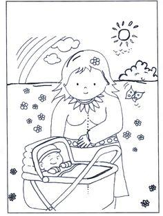 baby meisje kleurplaat - Google zoeken