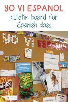 Yo Vi Espanol Bulletin Board – Spanish Classroom – The Gifted Gabber