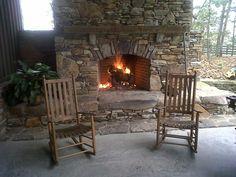hunting creek farms fireplace
