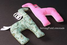 Easy homemade animals for kids to make for each other - or do like she did and make a bunch for a service project.