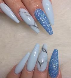 Looking for easy nail art ideas for short nails? Look no further here are are quick and easy nail art ideas for short nails. Colorful Nail Designs, Acrylic Nail Designs, Acrylic Gel, Acrylic Spring Nails, Blue Acrylic Nails Glitter, Crazy Acrylic Nails, Blue Coffin Nails, Sexy Nails, Trendy Nails