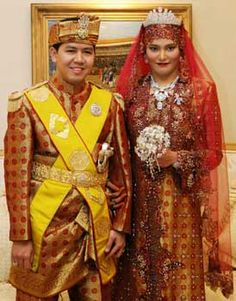 A two-week lavish wedding celebration for the daughter of Brunei's sultan — one of the world's richest men — culminated  in a ceremony steeped in the royal tradition of this tiny, oil-rich nation. Princess Majeedah Nuurul Bulqiah, 31, and Khairul Khalil, 32, exchanged their vows dressed in matching gold and maroon traditional Malay outfits while she wore a diamond tiara and carried a bouquet of diamonds.