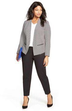 Sejour Jacket, Tunic & Pants (Plus Size) - Plus Size Work Outfits Plus Size Suits, Plus Size Blazer, Plus Size Work, Looks Plus Size, Moda Plus Size, Office Wear Women Work Outfits, Casual Work Outfits, Business Casual Outfits, Professional Outfits