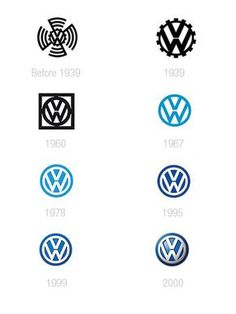 Volkswagen A look at some car companies logos design evolution V-DUB Auto Volkswagen, Volkswagen Group, Vw T1, Jetta Vw, Vw Logo, Car Logo Design, Vw Vintage, Car Logos, Vw Beetles