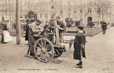 Les petits métiers du Paris d'antan Le rémouleur